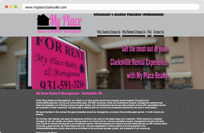 My Place Clarksville Web Design