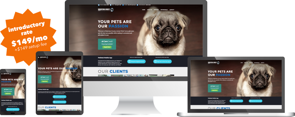 Robertson County Animal Clinic website - Springfield TN